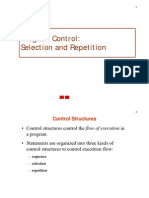 Comp 132 Notes 3 Program Control