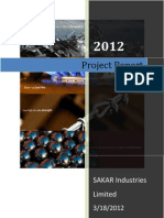 A Project Report on Sakar Alloys