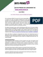 Cp Lancement Vente-privee.tn