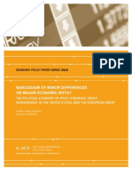 Narcissism of Minor Differences or Major Economic Rifts? The Political Economy of (Post) Financial Crisis Management in the United States and the European Union