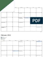 College Leader Calendar 2012