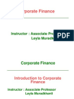 Topic 1 SLIDE Introduction to Corporate Finance