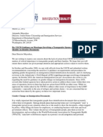 Letter Re Trans USCIS Policies