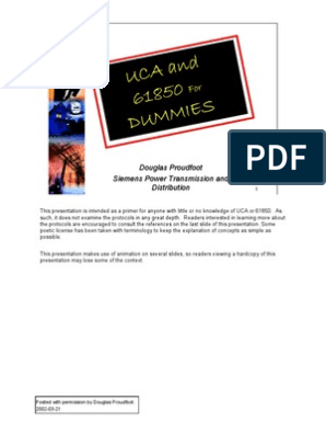UCA and 61850 for Dummies V12 | Electrical Substation | Scada