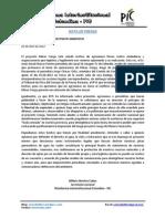 Agreden Fisicamente a Defensor Ambiental - Nota de Prensa PIC