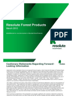 Resolute FP - GS Paper and Forest Products Conference - 03-15-2012