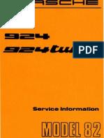 Porsche 924 Turbo Model 82 Service Information Technik