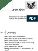 Observation -- Student Copy