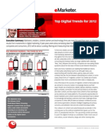 eMarketer Top Digital Trends 2012