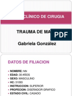 CASO CLÍNICO DE CIRUGIA