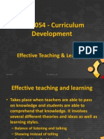 Effective Teaching & Learning