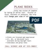 Airplane Rides Flyer