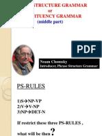 Phrase Structure Grammar-presentation