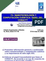 060525 RA72 CONACYT Prom Comp Cuant Nanotec