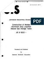 JIS B8251(1981) Construction 0f Welded Aluminium Alloy Liquefied Natural Gas Storage Tanks