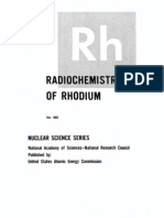 The Radio Chemistry of Rhodium(Rh).US AEC