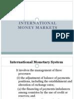 International Money Market Instruments