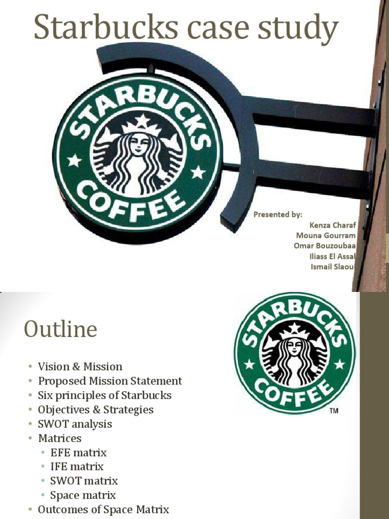 the case study of starbucks marketing essay Global business case study #1 the globalization of starbucks thirty years ago, starbucks was a single store in seattle's pike place market selling premium-roasted coffee.