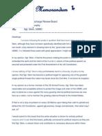 Memorandum - Sgt. Stein USMC