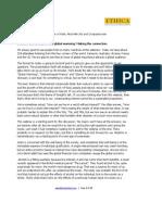Interest Based Finance and Global Warming (Transcript)