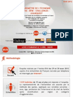 Baromètre de l'économie Vague 42 - Avril 2012