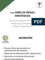 Factores de Riesgo Anestesicos