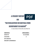 Project on Mutual Fund Investment