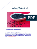 Benefits of Kalonji Oil