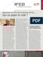 Réduction de 30% des émissions de CO2… Qui va payer la note ?, Infor FEB 12, 5 avril 2012