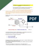 Cálculo de fusibles en una fuente de alimentación
