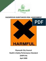Hsps04 Hazardous Substances Risk Assessment