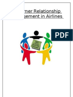 Customer Relationship Managment in Airlines