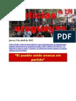 Noticias Uruguayas Jueves 5 de Abril de 2012