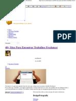 40+ Sites Para Encontrar Trabalhos Freelancer _ SerFreelancer