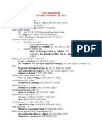Civil Procedure Cases for November 19, 2011
