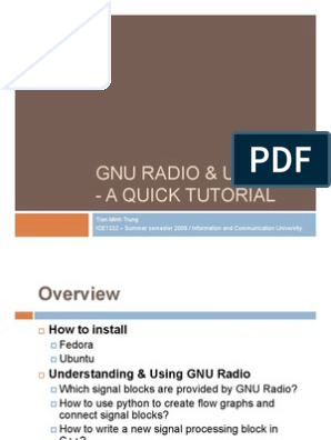 Gnu Radio Usrp Quick Tutorial | Python (Programming Language