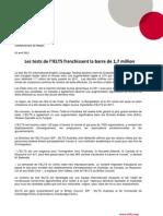 IELTS Press Release Fr 2012