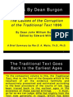 Causes of Corruption of Traditional Text