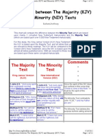 Comparison Between Majority & Minority Texts