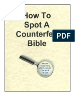 How to Spot a Counterfeit Bible (2)
