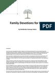 Family Devotions for Lent