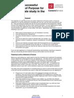 Guidelines to Write Statement of Purpose Postgraduate Usa