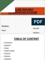 Online Rail. Reserv.