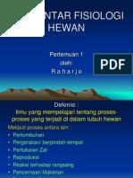 PENGANTAR FISIOLOGI HEWAN