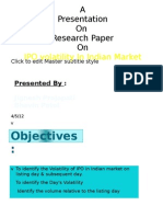 IPO Volatility Research Paper