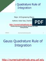 Mws Gen Int Ppt Gaussquadrature