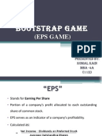 Bootstrap Game