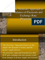 Bop and Monetary Policy