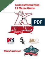 Intimidators 2012 Media Guide