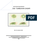 Buku Petunjuk Praktikum Fisiologi Tumbuhan Dasar